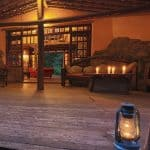 Reception of Rivertrees Lodge, outside of Arusha, Tanzania