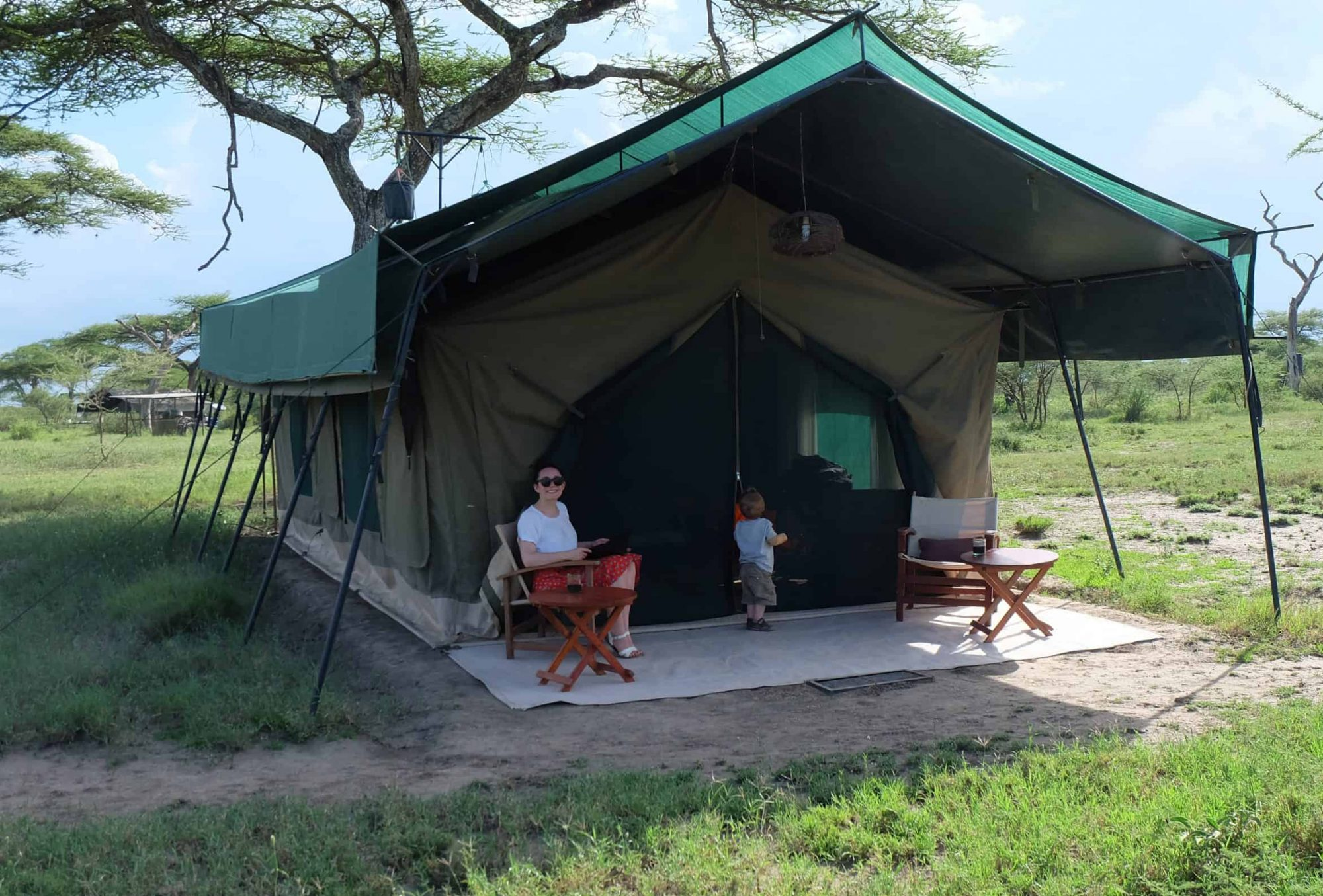 One of the mobile camps, this one Chaka Camp in the Serengeti