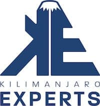 Blue Kilimanjaro Experts logo with white background